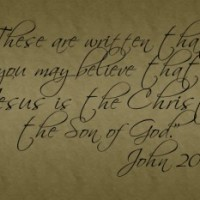"""Jesus, Church and Scriptures"" John 20:19-31"