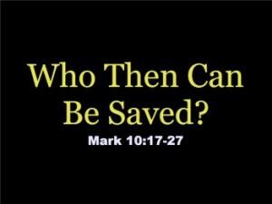 Mark 10 17-31