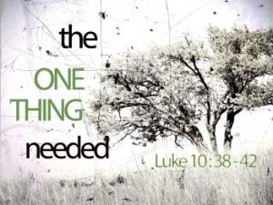 Luke 10 38-42 2016