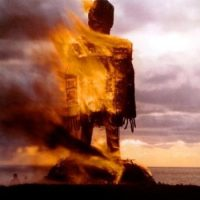"Burning ""the straw-man""."